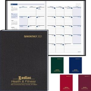 Ruled Monthly Format Stitched to Cover Desk Planner - 2021