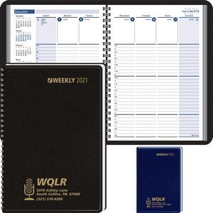 Column-Style Weekly, Wired Desk Planner - 2021