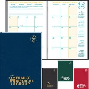 Academic Desk Monthly Planner w/ Morocco Cover - 2020-2021
